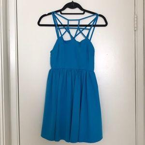 Blue Caged Lulu's Dress